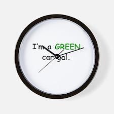 GREEN Car Gal Wall Clock