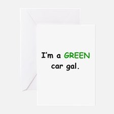 *GREEN Car Gal Greeting Cards (Pk of 10)
