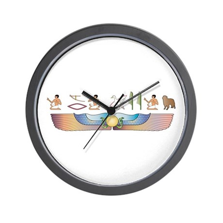 Toller Hieroglyphs Wall Clock
