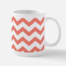 Coral Chevron Stripes Mugs