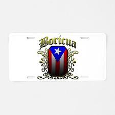 Boricua Aluminum License Plate