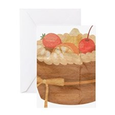 Fruitcake Strawberry Cherry Cake Illustration Gree