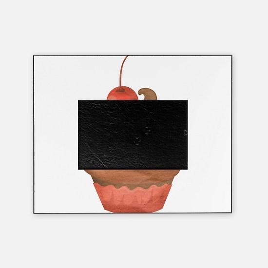 Chocolate Cherry Cupcake Vintage Illustration Pict