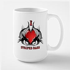I Heart Striped Bass Mugs