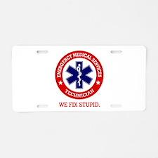 EMS (We Fix Stupid) Aluminum License Plate