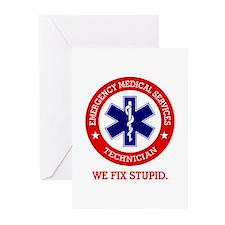 EMS (We Fix Stupid) Greeting Cards