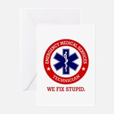 EMS (We Fix Stupid) Greeting Cards