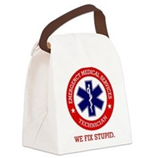 EMS (We Fix Stupid) Canvas Lunch Bag