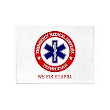 EMS (We Fix Stupid) 5'x7'Area Rug
