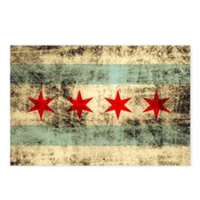 Grunge Chicago Flag Postcards (Package of 8)