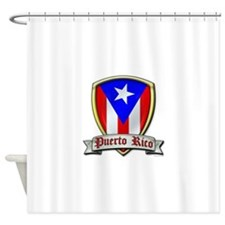 Puerto Rico - Shield2 Shower Curtain
