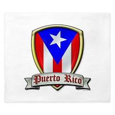 Puerto Rico - Shield2 King Duvet