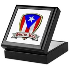 Puerto Rico - Shield2 Keepsake Box