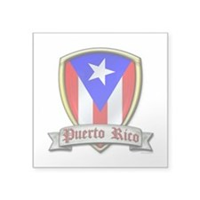 "Puerto Rico - Shield2 Square Sticker 3"" x 3"""