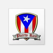 """Puerto Rico - Shield2 Square Sticker 3"""" x 3"""""""
