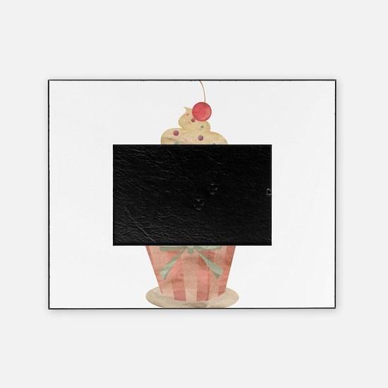 Vanilla Sprinkles Cupcake Vintage Illustration Pic