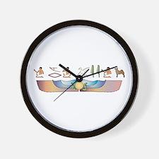 Buhund Hieroglyphs Wall Clock