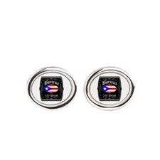 Boricua 100 Proof Oval Cufflinks