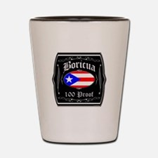 Boricua 100 Proof Shot Glass