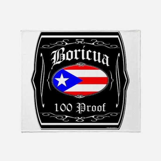 Boricua 100 Proof Throw Blanket