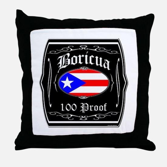 Boricua 100 Proof Throw Pillow