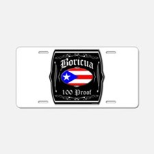 Boricua 100 Proof Aluminum License Plate