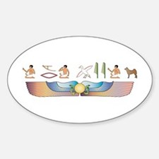 Norrbottenspets Hieroglyphs Oval Decal