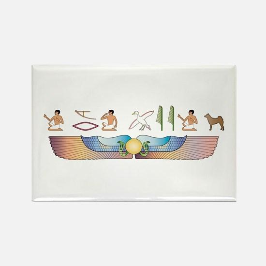 Norrbottenspets Hieroglyphs Rectangle Magnet (100