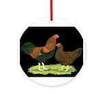 Partridge Chantecler Pair Ornament (Round)