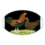 Partridge Chantecler Pair Oval Sticker