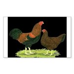 Partridge Chantecler Pair Rectangle Sticker