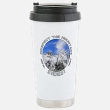Respect the Mountain-Everest-1 Travel Mug