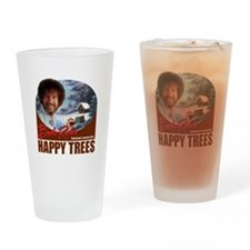 Bob Ross Drinking Glass