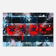 Chicago Flag Spray Paint Art Postcards (Package of