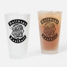 Bulldogs Football Drinking Glass