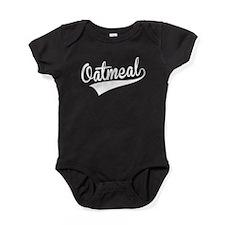 Oatmeal, Retro, Baby Bodysuit