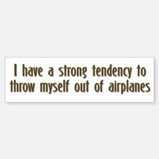 Skydiving Bumper Bumper Bumper Sticker