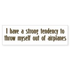 Skydiving Bumper Bumper Sticker