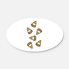 Candy Corn Oval Car Magnet