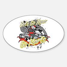 Lets Go Race Go Karts Sticker (Oval)