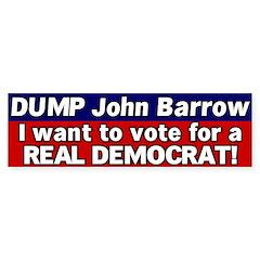 Democrat John Barrow Bumper Bumper Sticker