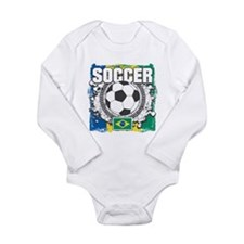 Brazil Soccer Long Sleeve Infant Bodysuit