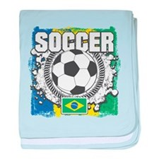 Brazil Soccer baby blanket