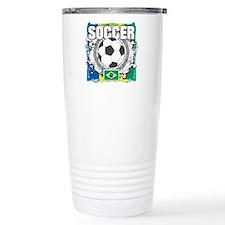 Brazil Soccer Travel Mug