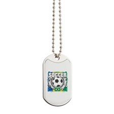 Brazil Soccer Dog Tags