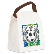 Brazil Soccer Canvas Lunch Bag