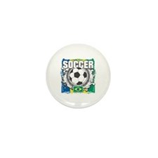 Brazil Soccer Mini Button (100 pack)