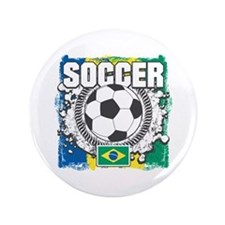 "Brazil Soccer 3.5"" Button"