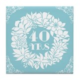 40th anniversary Drink Coasters