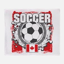 Canada Soccer Throw Blanket